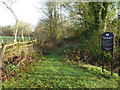 TL0787 : Private path to The Ashton Estate in Polebrook by Richard Humphrey