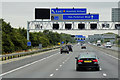 SE3425 : Overhead Sign Gantry, Eastbound M62 by David Dixon