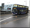 ST3188 : X7 double-decker approaches Market Square bus station, Newport by Jaggery