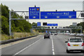 SE3525 : Eastbound M62 approaching Junction 30 by David Dixon