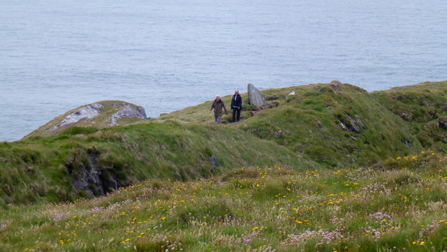Walkers returning from Brow Head