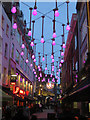 TQ2980 : Ganton Street Christmas lights by Oast House Archive