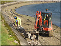 SP9113 : Repairing Startops Reservoir (14) Building the Breakwater by Chris Reynolds