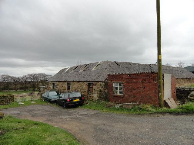 Old outbuildings at Stob House farm, Dipton