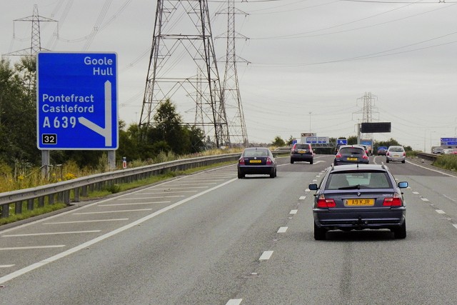 Eastbound M62 at Junction 32