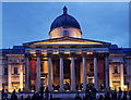 TQ3080 : Portico, National Gallery, Trafalgar Square by Julian Osley