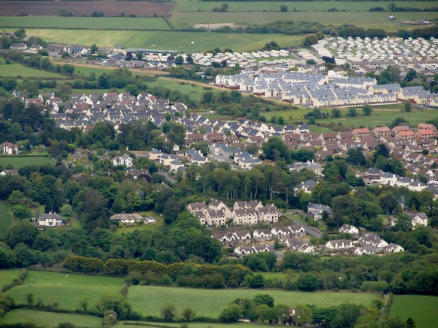 New housing estates on the fringes of Newcastle, Co Down