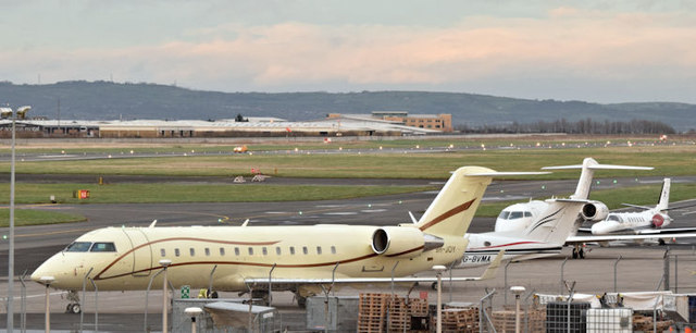 Four aircraft, George Best Belfast City Airport (December 2015)