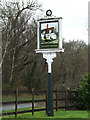 TL2112 : The Crooked Chimney Public House sign by Adrian Cable