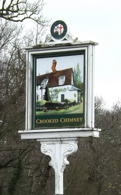 The Crooked Chimney Public House sign