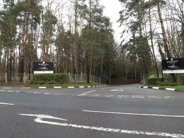 Entrance to Brocket Hall