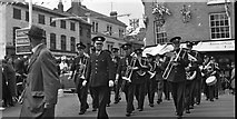 SU7682 : St Georges Day Parade at the junction of Hart Street with Bell Street, Henley by Antony Ewart Smith