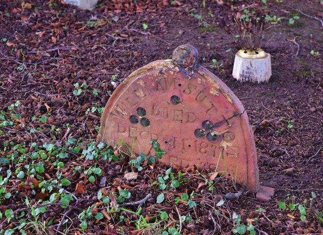 An Unusual Headstone
