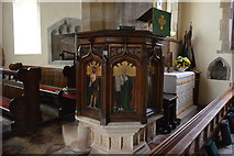 TQ4210 : Pulpit, Church of St Thomas a Becket by N Chadwick