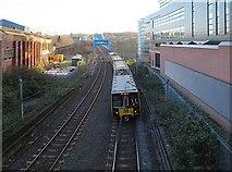 NZ2463 : Metro line north of Metro Bridge by Andrew Curtis