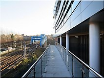 NZ2463 : Walkway to car park at rear of Crowne Plaza Hotel by Andrew Curtis