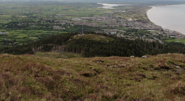 The Drinnahilly Transmitter Station viewed from Slievenamaddy