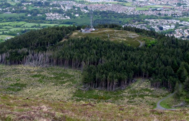 The summit of Drinnahilly viewed from the slopes of Slievenamaddy