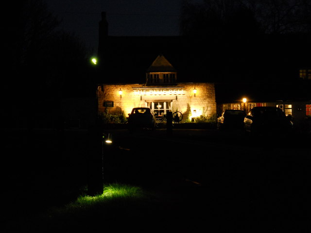 The Blue Bell, Glinton, by night