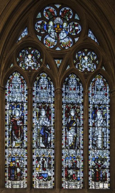 Stained glass window, St Wulfram's church, Grantham