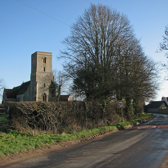 West Wickham: on the edge of the village