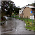 ST8599 : Road past the western edge of the telephone exchange, Nailsworth by Jaggery