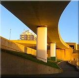 TQ3303 : Flyover, Brighton Marina by Simon Carey