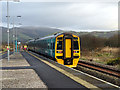 SN6998 : Cambrian Unit 158829 departing from Dovey Junction Railway Station towards Machynlleth  by John Lucas
