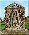 NX1898 : A Fine Stone at Girvan by Mary and Angus Hogg