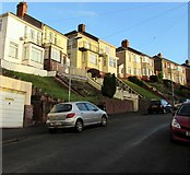 ST3288 : Houses above Tennyson Road, Newport by Jaggery
