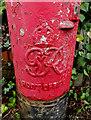 TL1413 : Royal Cypher on Piggottshill Lane George VI Postbox by Geographer