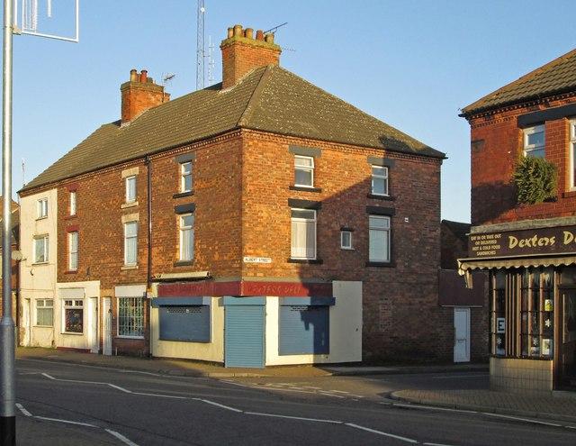 Stanton Hill - Junction of Albert Street with High Street