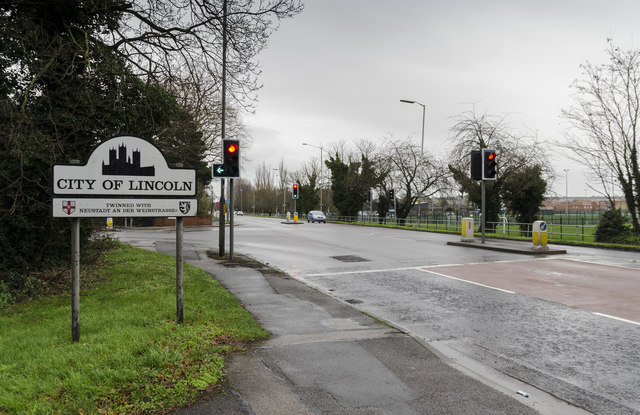 Junction of Newark Road and Tritton Road, Lincoln