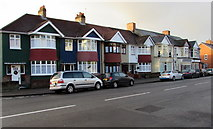 ST3288 : Seven gables on the south side of Chepstow Road, Newport by Jaggery
