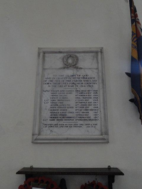 Whitwell War Memorial