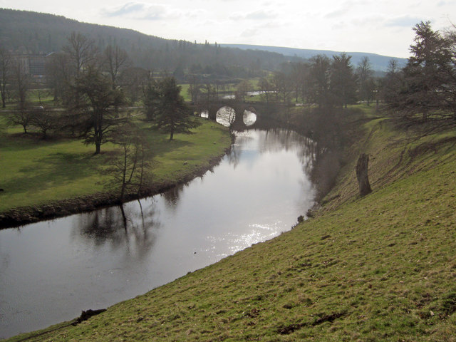 Derwent River at Chatsworth Bridge
