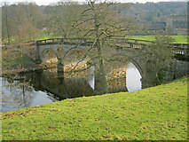 SK2570 : Chatsworth Bridge - 2 by Trevor Rickard