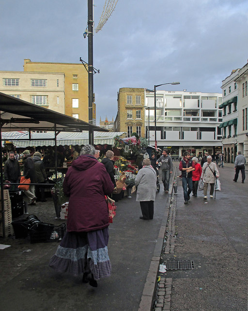 Cambridge Market Place on Christmas Eve