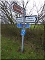 SO8742 : Signpost to Croome by Philip Halling