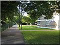 SU4211 : Wide footpath through Orchard Lane estate, Southampton by Robin Stott