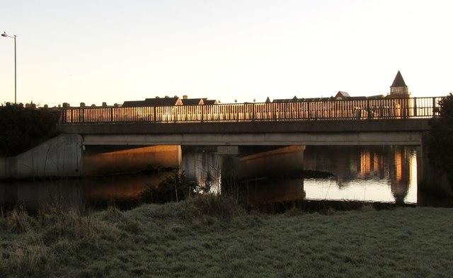 The Shimna Road bridge over the Shimna River at dawn