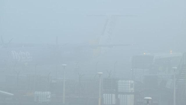 Fog, George Best Belfast City Airport (December 2015)