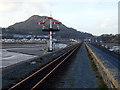 SH5738 : Ffestiniog Railway signal by John Lucas
