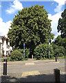 SP2965 : Shared path crosses Campriano Drive, Emscote Lawn estate, Warwick by Robin Stott