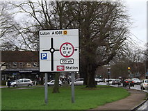 TL1314 : Roadsign on the A1081 St.Albans Road by Adrian Cable