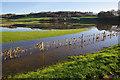 SD5869 : Flooded field, Holme Head farm by Ian Taylor