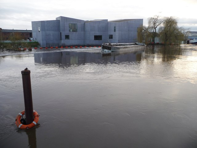 The River Calder in spate, 27th December 2015