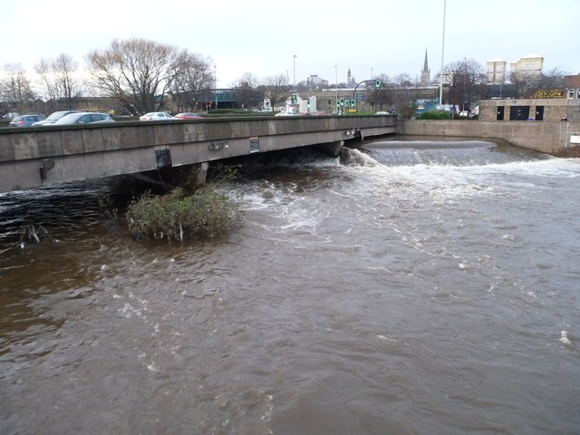 The River Calder, Wakefield, 27th December 2015