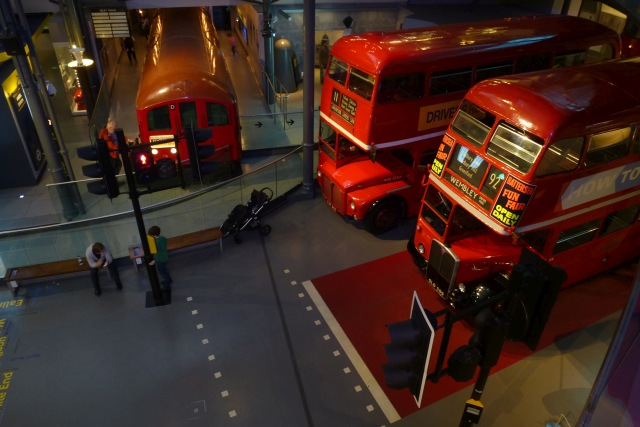 Buses in the London Transport Museum
