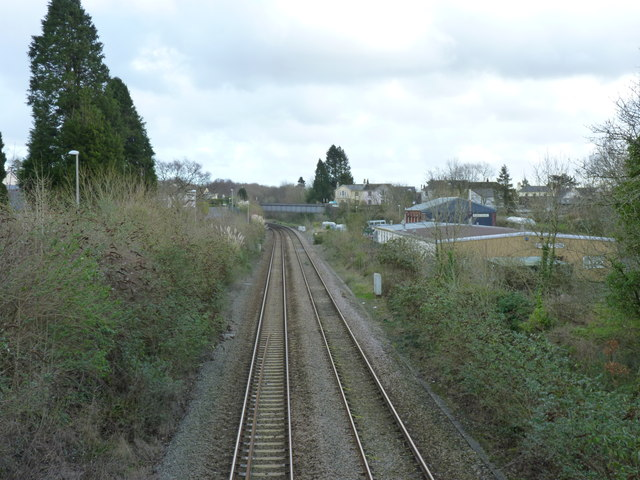 View towards the site of the old Brent Station